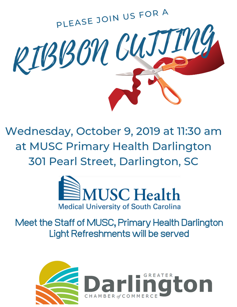 Ribbon Cutting Event Flyer Wednesday