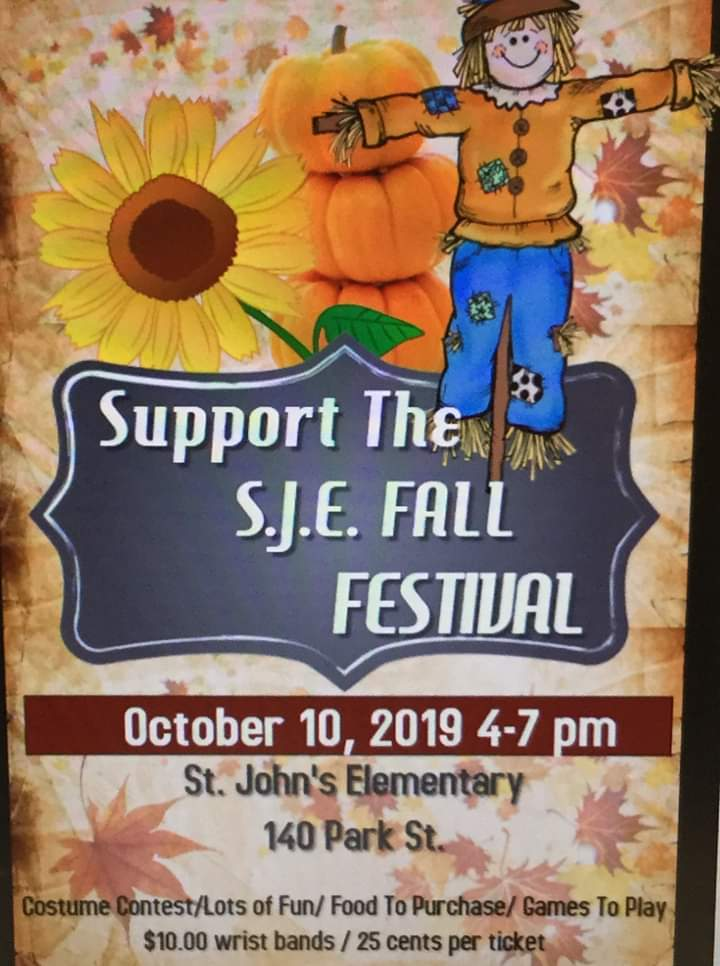 SJE Fall Festival October 10