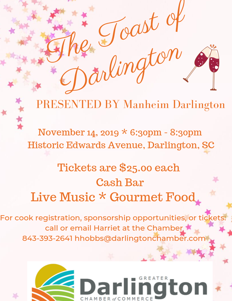 Toast of Darlington November 14 Edwards Avenue