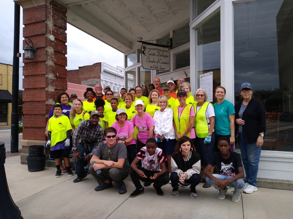More than 60 volunteered to help Clean Up Darlington on Saturday