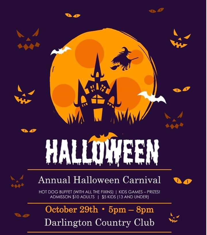 Darlington Country Club Halloween Carnival Oct 29