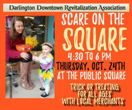 Scare on the Square downtown trick or treat 4:30-6pm Thursday