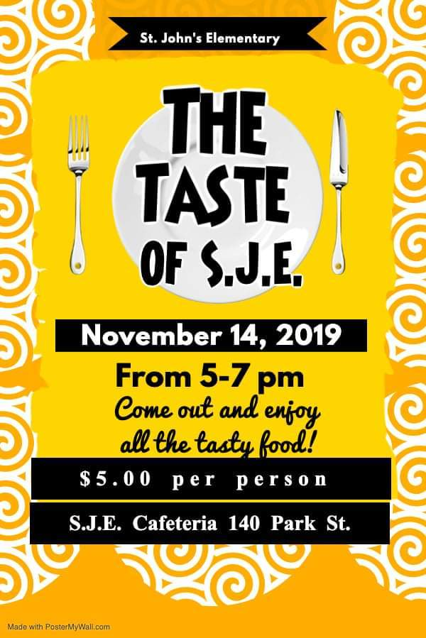 111419 Taste of SJE Flyer