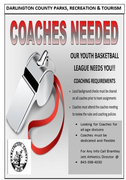 COACHES NEEDED FOR BASKETBALL