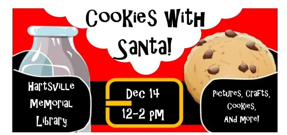 121419 Cookies with Santa 12-2 at Hartsville Library