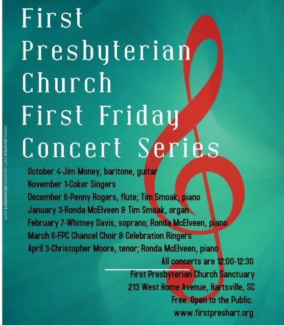 First Friday Concerts Flyer
