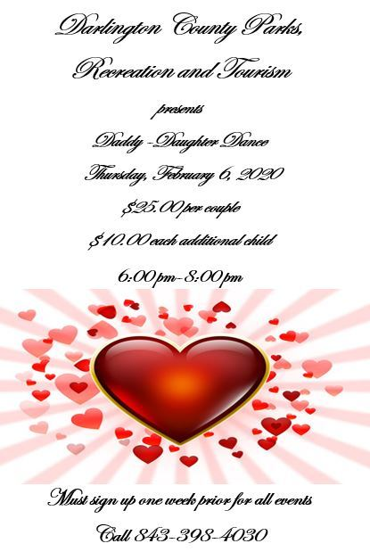 Daddy Daughter Dance will be Feb. 6