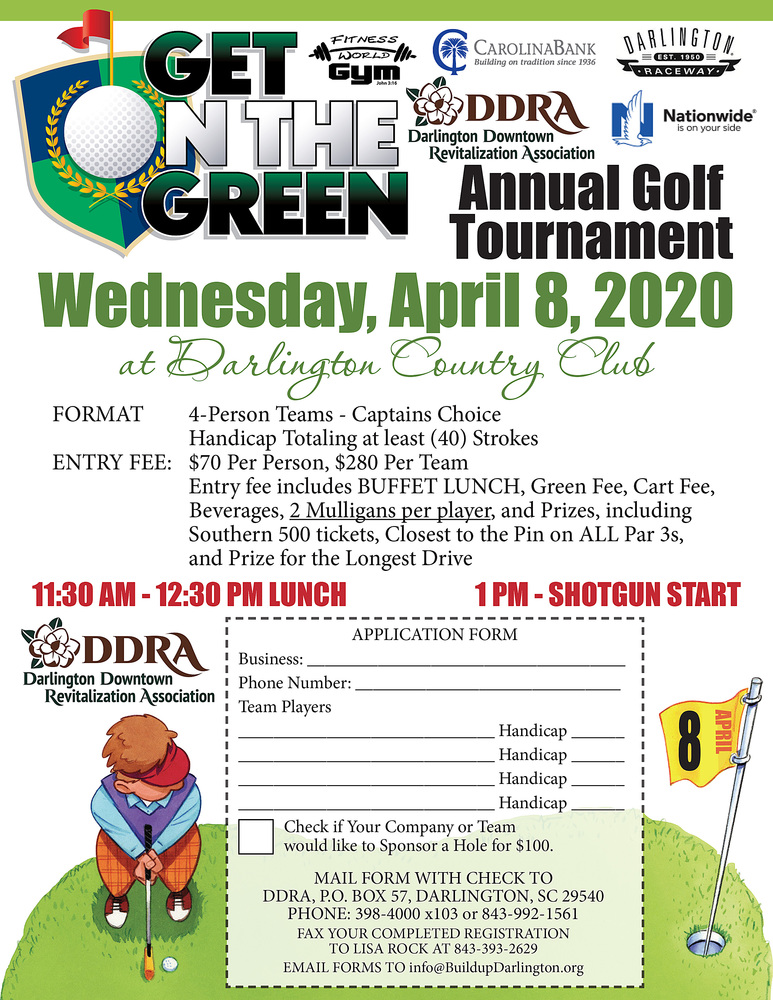 Play a round with the DDRA April 8 at Darlington Country Club