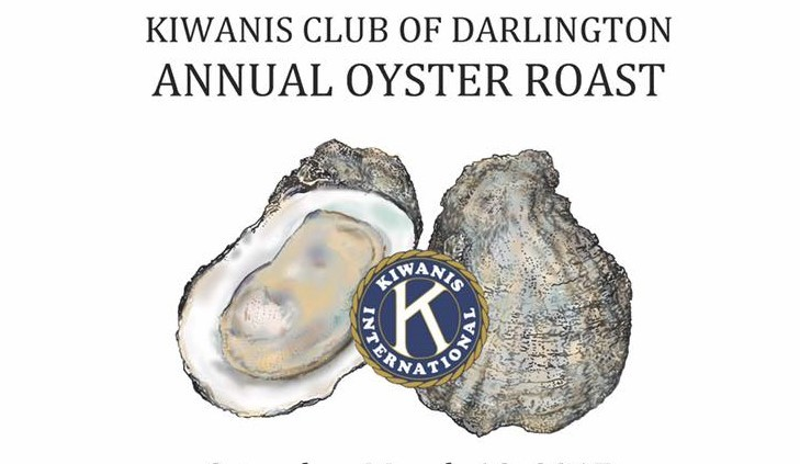 Kiwanis Oyster Roast tickets available at State Farm in Darlington