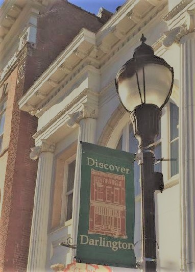 Discover Darlington Banner downtown