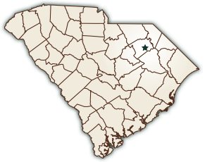 Map showing the City of Darlington, South Carolina